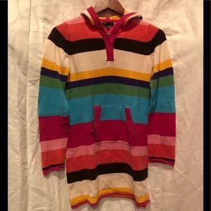 GAP sweater dress hooded rainbow 🌈girls XXL 14-16